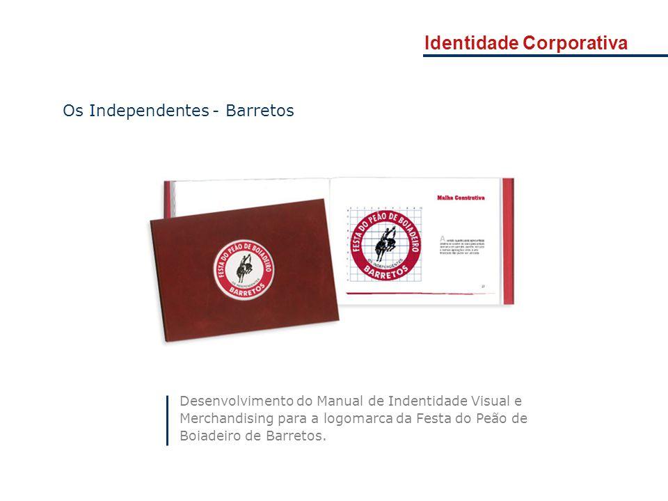 Identidade Corporativa Desenvolvimento do Manual de Indentidade Visual e Merchandising para a logomarca da Festa do Peão de Boiadeiro de Barretos. Os