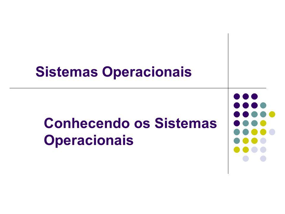 Conhecendo os Sistemas Operacionais Sistemas Operacionais