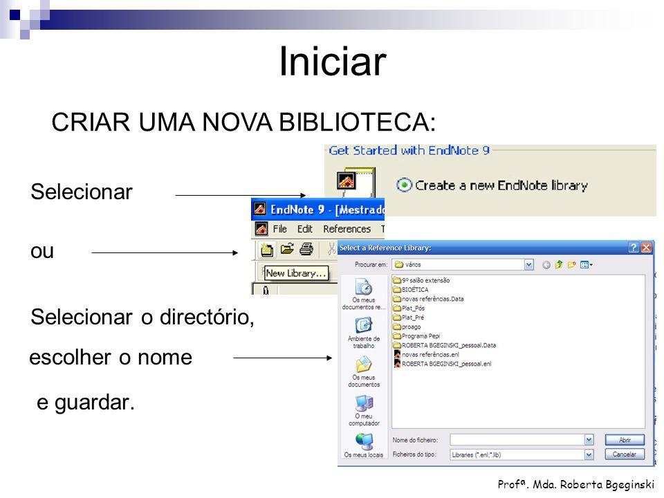 As referências em uso num determinado documento podem ser exportadas para uma nova biblioteca ou copiadas para uma já existente.