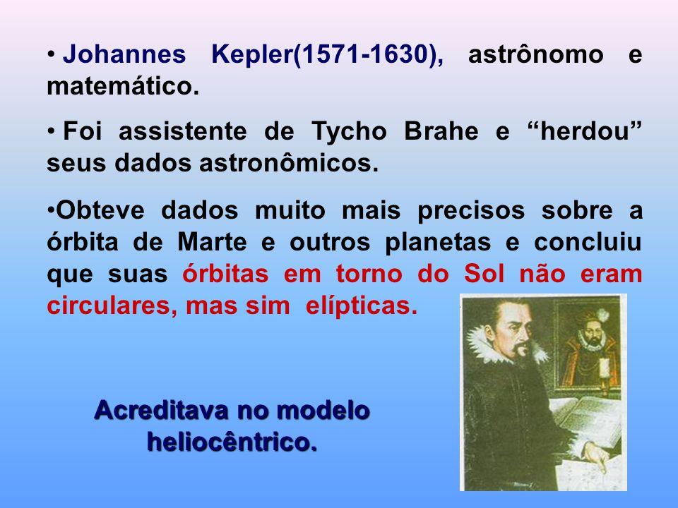 """Johannes Kepler(1571-1630), astrônomo e matemático. Foi assistente de Tycho Brahe e """"herdou"""" seus dados astronômicos. Obteve dados muito mais precisos"""