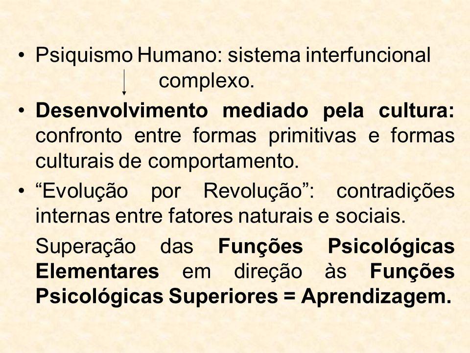 Psiquismo Humano: sistema interfuncional complexo. Desenvolvimento mediado pela cultura: confronto entre formas primitivas e formas culturais de compo