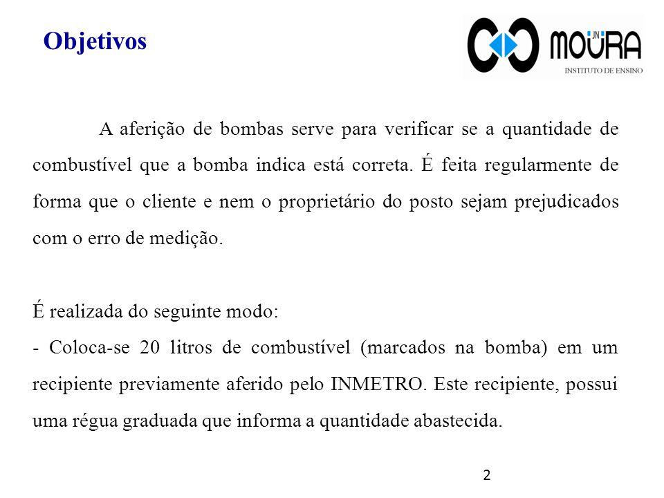 A aferição de bombas serve para verificar se a quantidade de combustível que a bomba indica está correta. É feita regularmente de forma que o cliente