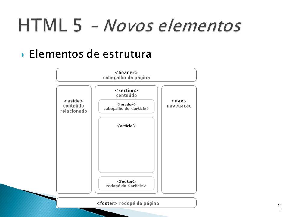  Elementos de estrutura 153