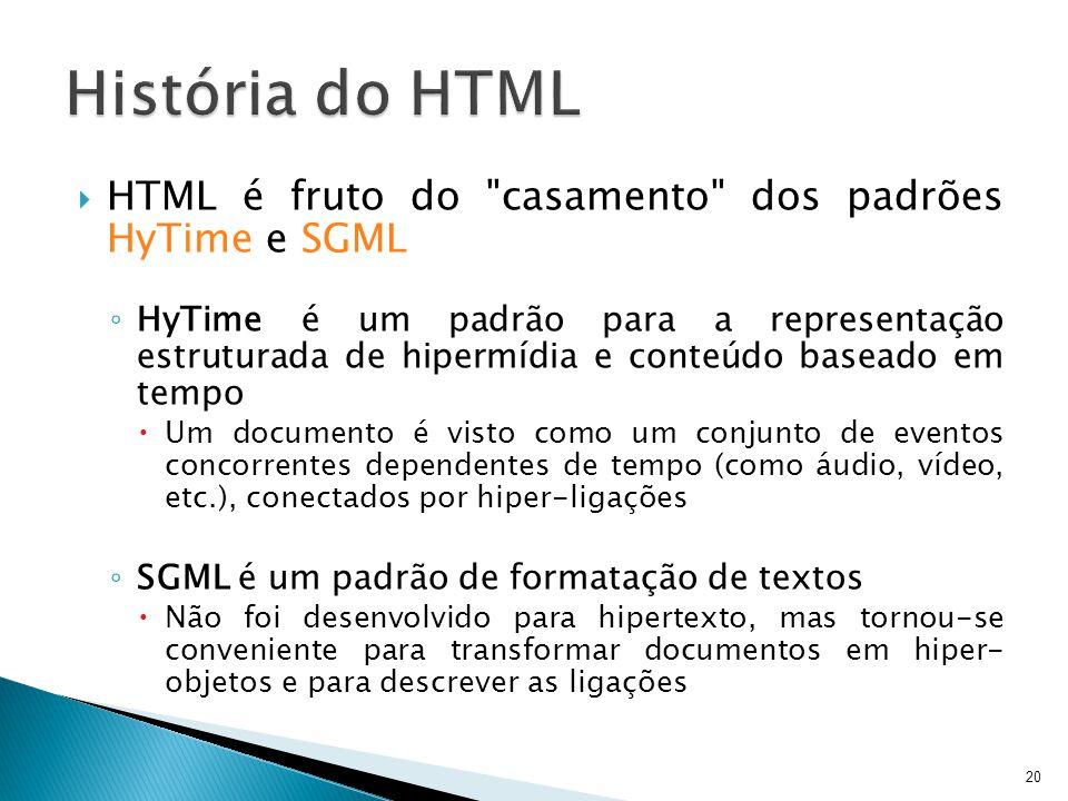  HTML é fruto do
