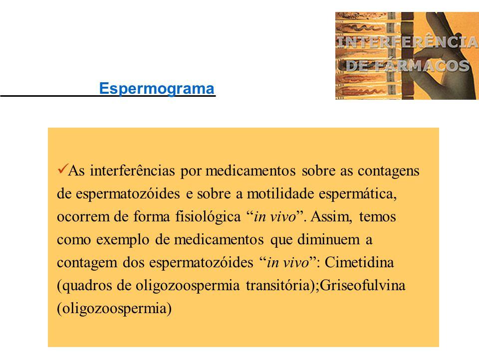 Anfetamina: Aumenta os ácidos graxos livres. Morfina: Aumenta alfa Amilase, TGO, TGP, F. Alcalina, TSH e prolactina. Heroína: Aumenta pCO2, T4, Colest