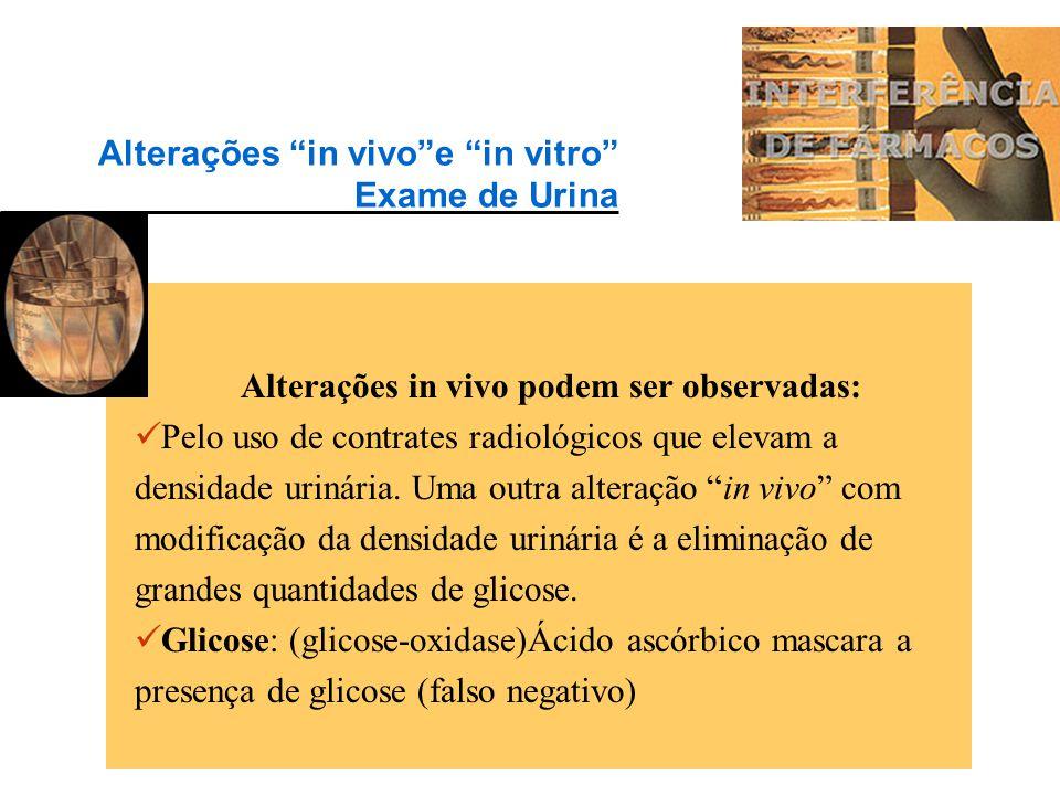 """O exame de urina pode sofrer alterações """"in vitro"""" por modificação, por exemplo, da cor (Piridium) ou alterações pelo uso, por exemplo, de antibiótico"""