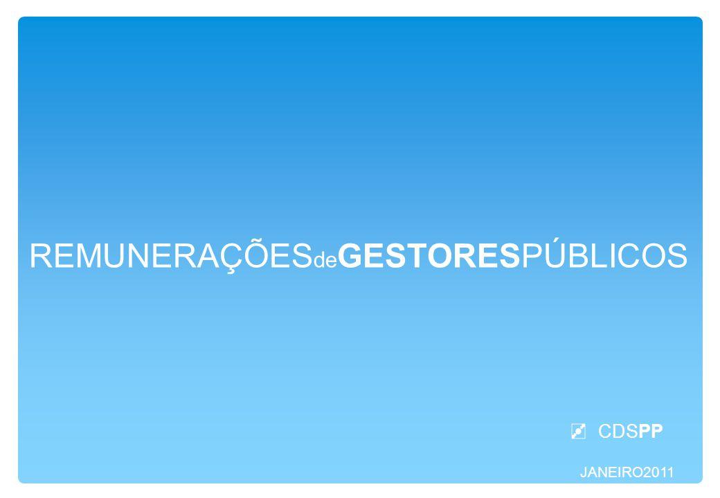 JANEIRO2011 REMUNERAÇÕES de GESTORESPÚBLICOS CDSPP