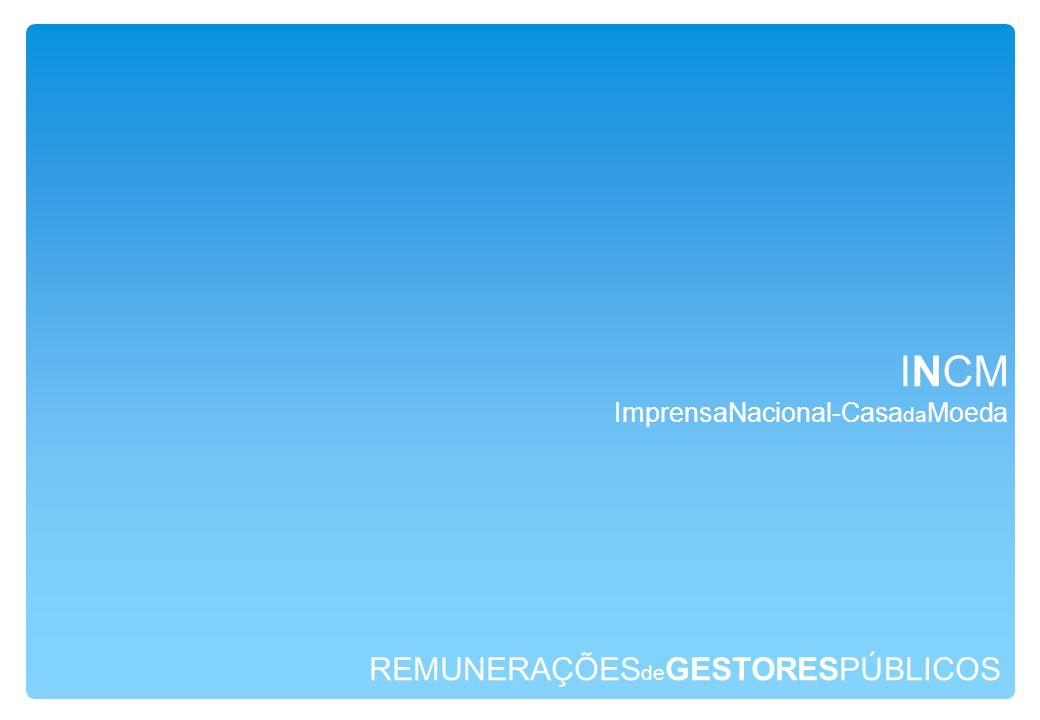 REMUNERAÇÕES de GESTORESPÚBLICOS INCM ImprensaNacional-Casa da Moeda