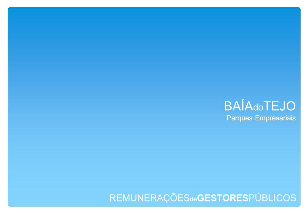 REMUNERAÇÕES de GESTORESPÚBLICOS BAÍA do TEJO Parques Empresariais