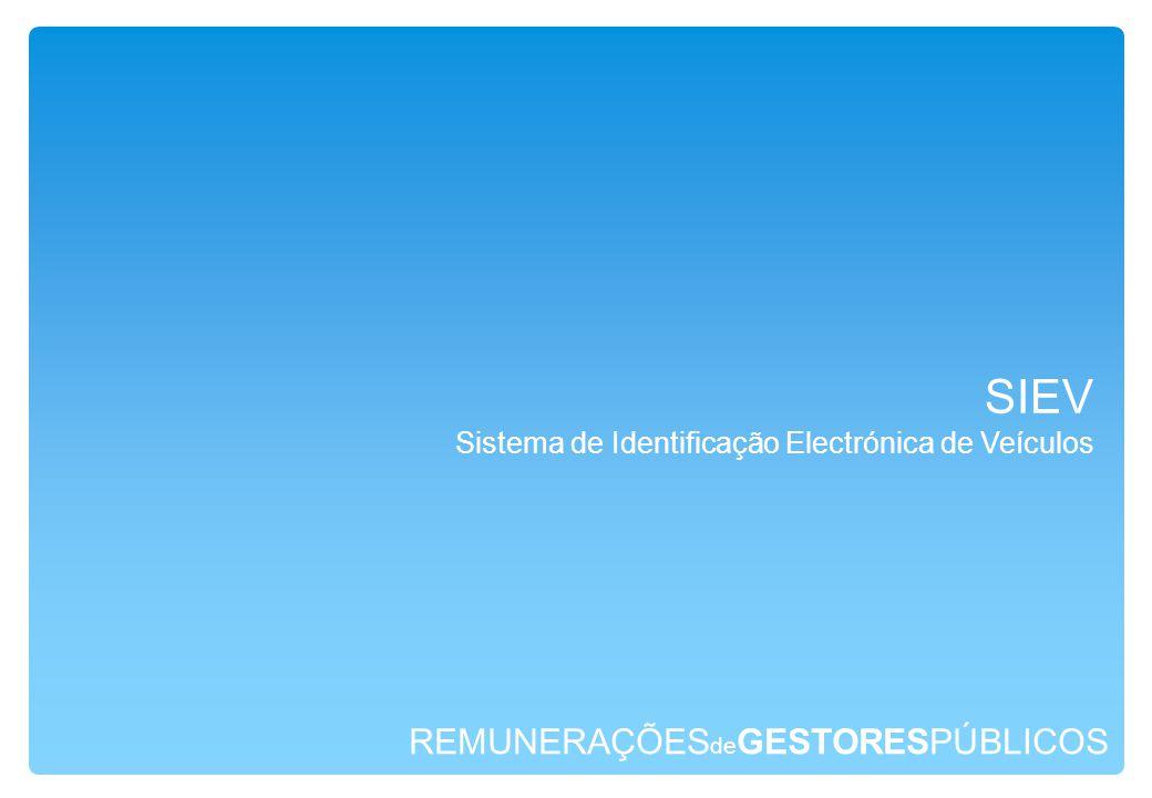 REMUNERAÇÕES de GESTORESPÚBLICOS SIEV Sistema de Identificação Electrónica de Veículos