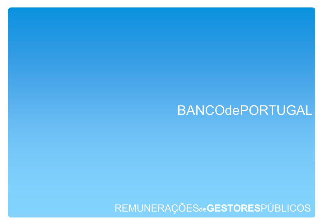 REMUNERAÇÕES de GESTORESPÚBLICOS BANCOdePORTUGAL