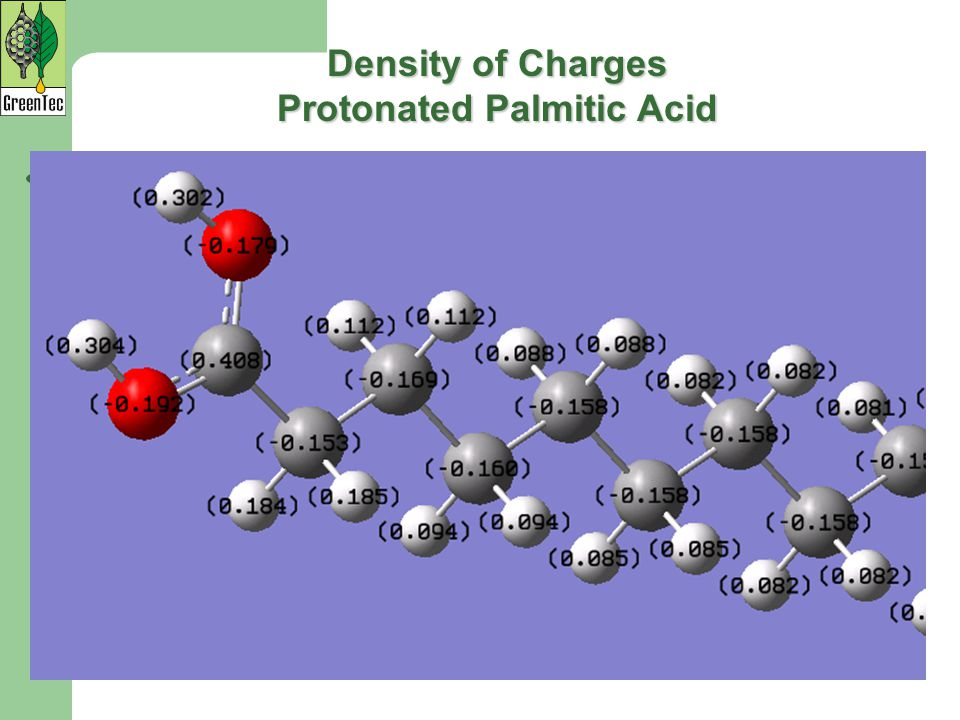 Density of Charges Protonated Palmitic Acid
