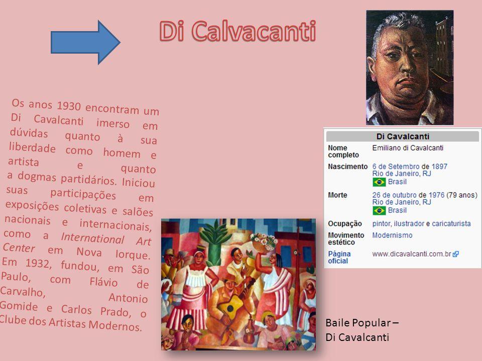 Os anos 1930 encontram um Di Cavalcanti imerso em dúvidas quanto à sua liberdade como homem e artista e quanto a dogmas partidários.