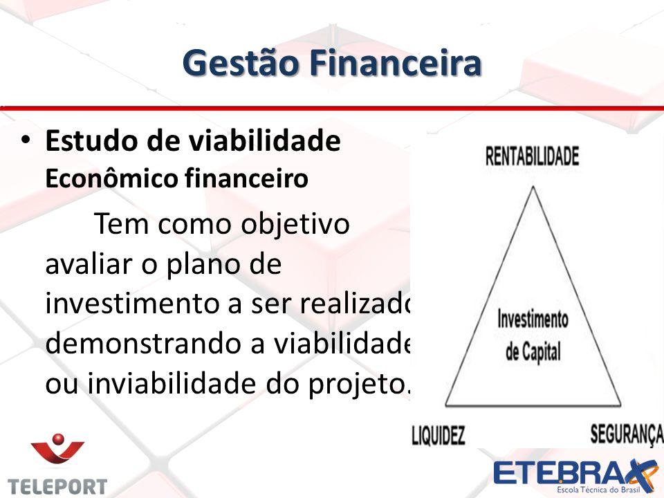 Gestão Financeira Segundo Macedo (2006) representa um resumo dos gastos e benefícios gerados por uma alternativa de investimento, deve ser utilizado.