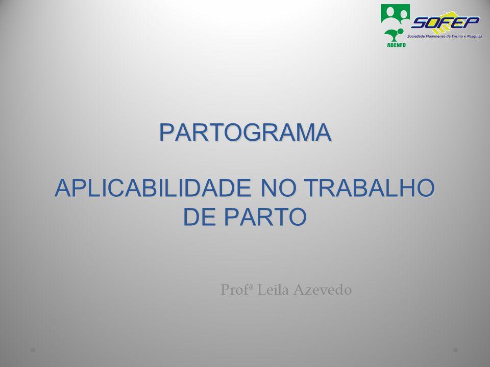 PARTOGRAMA APLICABILIDADE NO TRABALHO DE PARTO Profª Leila Azevedo