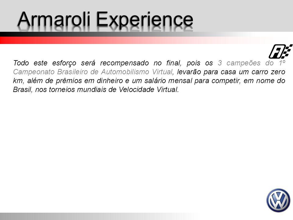 Todo este esforço será recompensado no final, pois os 3 campeões do 1º Campeonato Brasileiro de Automobilismo Virtual, levarão para casa um carro zero