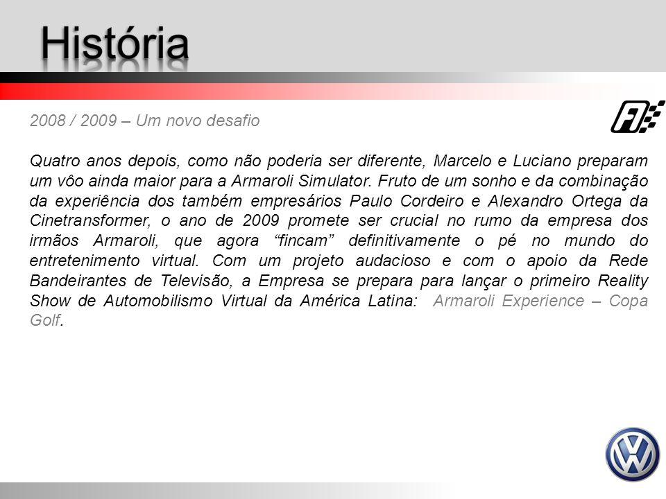2008 / 2009 – Um novo desafio Quatro anos depois, como não poderia ser diferente, Marcelo e Luciano preparam um vôo ainda maior para a Armaroli Simula