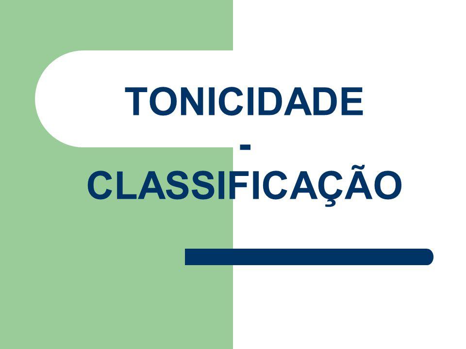 TONICIDADE - CLASSIFICAÇÃO