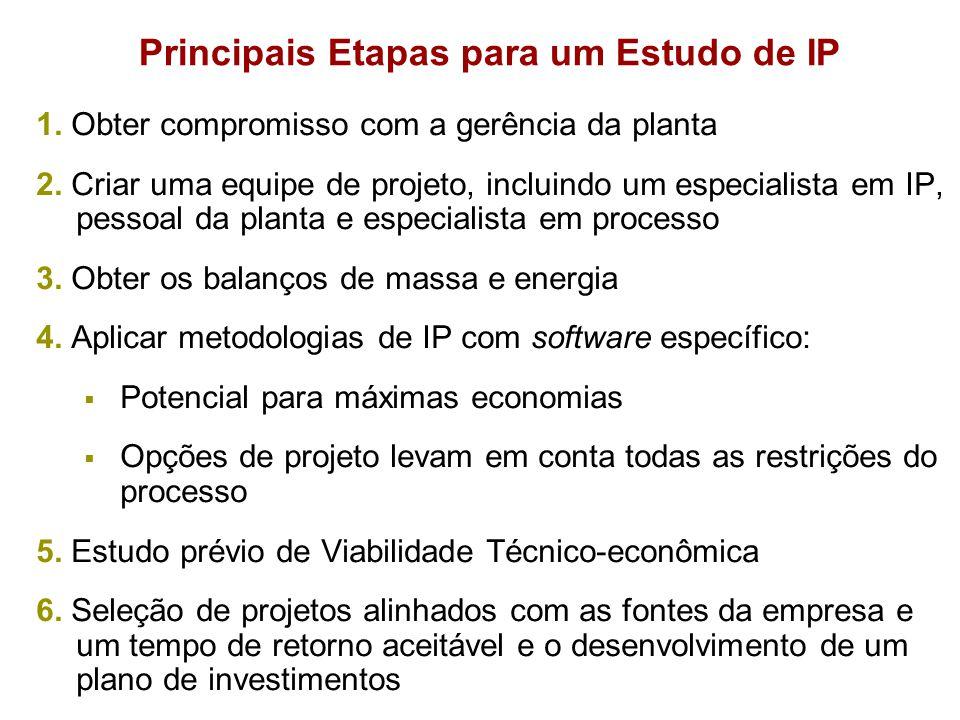 Principais Etapas para um Estudo de IP 1. Obter compromisso com a gerência da planta 2. Criar uma equipe de projeto, incluindo um especialista em IP,