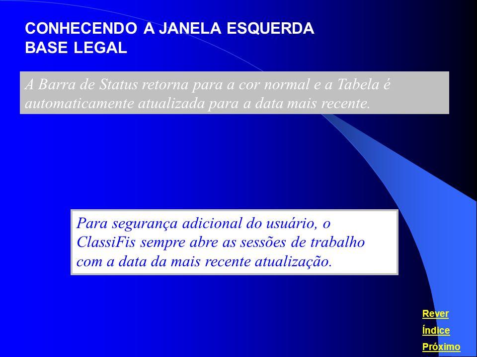 CONHECENDO A JANELA DIREITA REGRAS GERAIS INTERPRETATIVAS Além da Base Legal, a Janela Direita apresenta outras informações importantes.