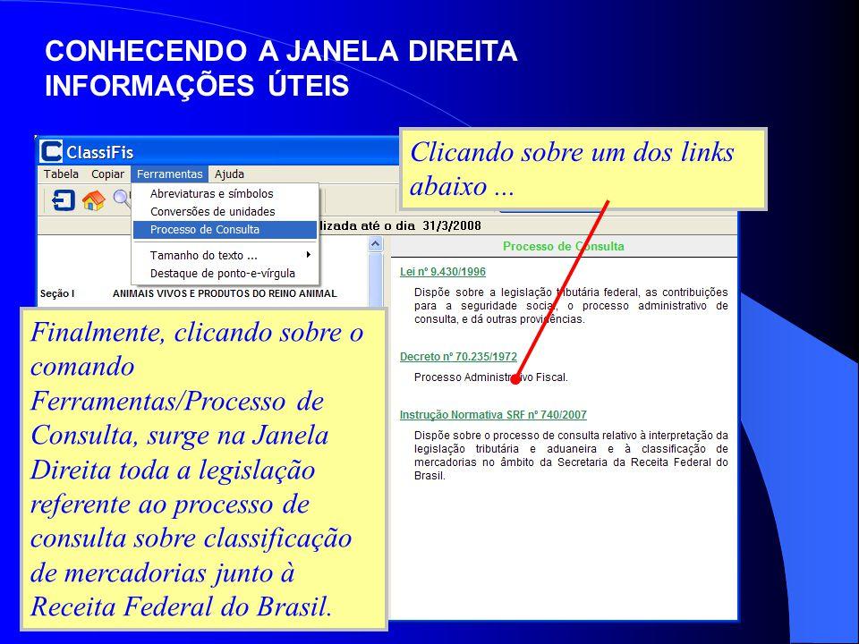CONHECENDO A JANELA DIREITA INFORMAÇÕES ÚTEIS Rever Índice Próximo...