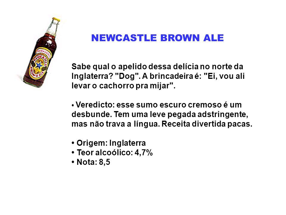 NEWCASTLE BROWN ALE Sabe qual o apelido dessa delícia no norte da Inglaterra?