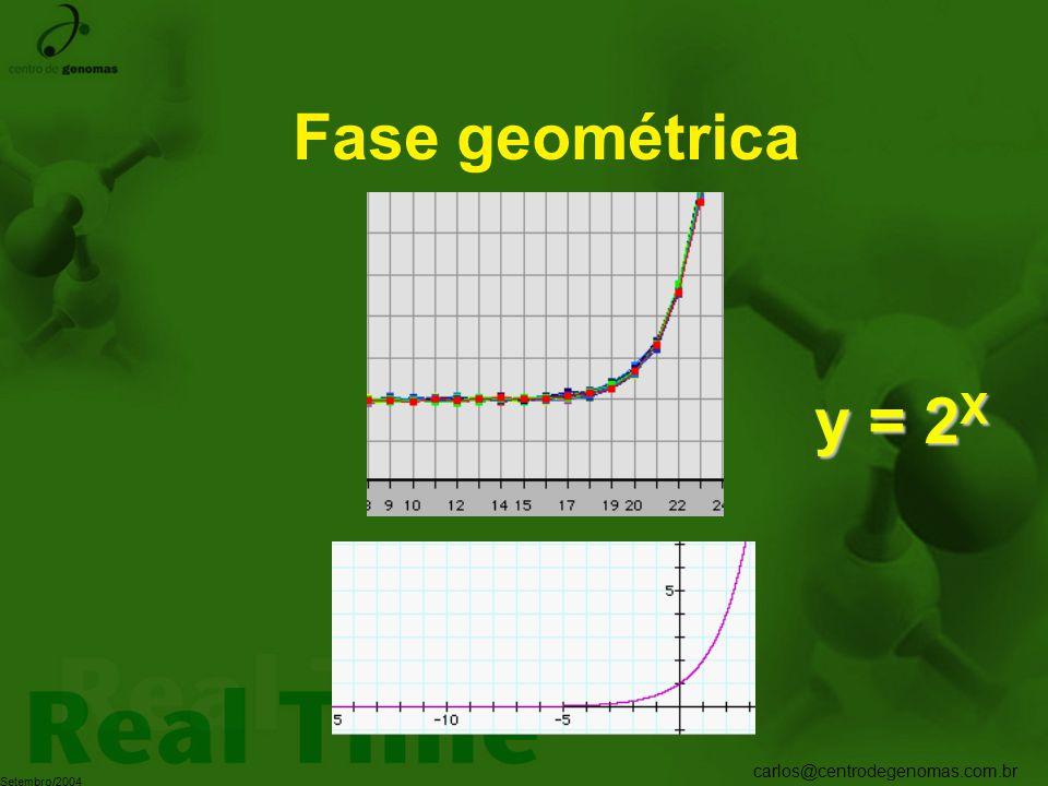 carlos@centrodegenomas.com.br Setembro/2004 Fase geométrica y = 2 X