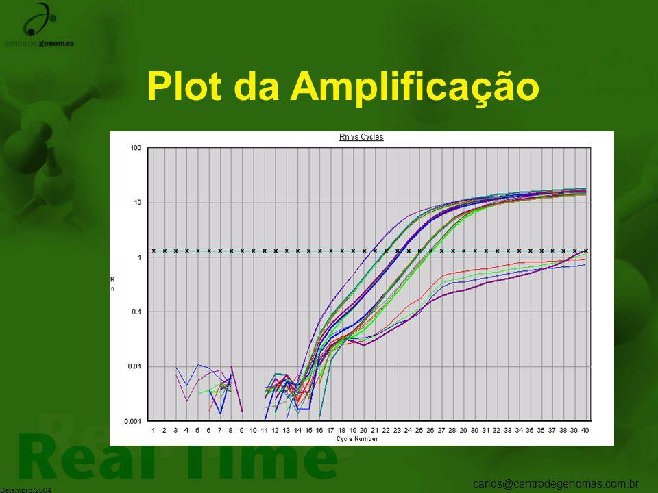 carlos@centrodegenomas.com.br Setembro/2004 Plot da Amplificação
