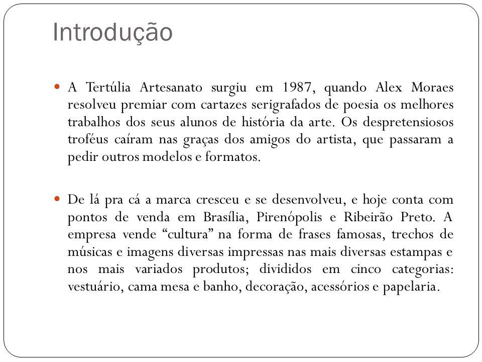 Introdução A Tertúlia Artesanato surgiu em 1987, quando Alex Moraes resolveu premiar com cartazes serigrafados de poesia os melhores trabalhos dos seus alunos de história da arte.