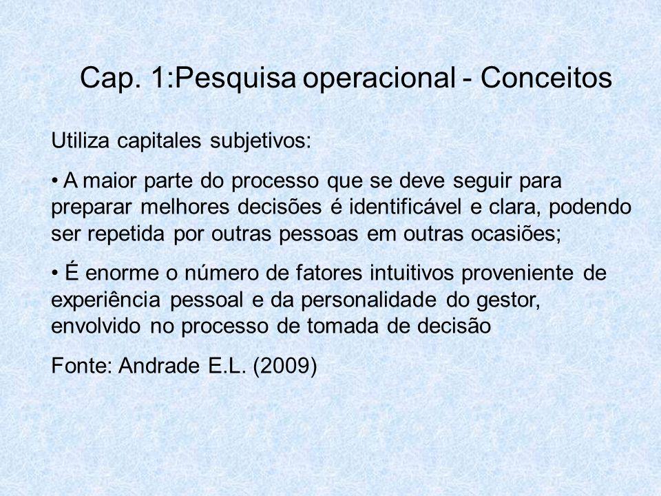 Utiliza capitales subjetivos: A maior parte do processo que se deve seguir para preparar melhores decisões é identificável e clara, podendo ser repeti