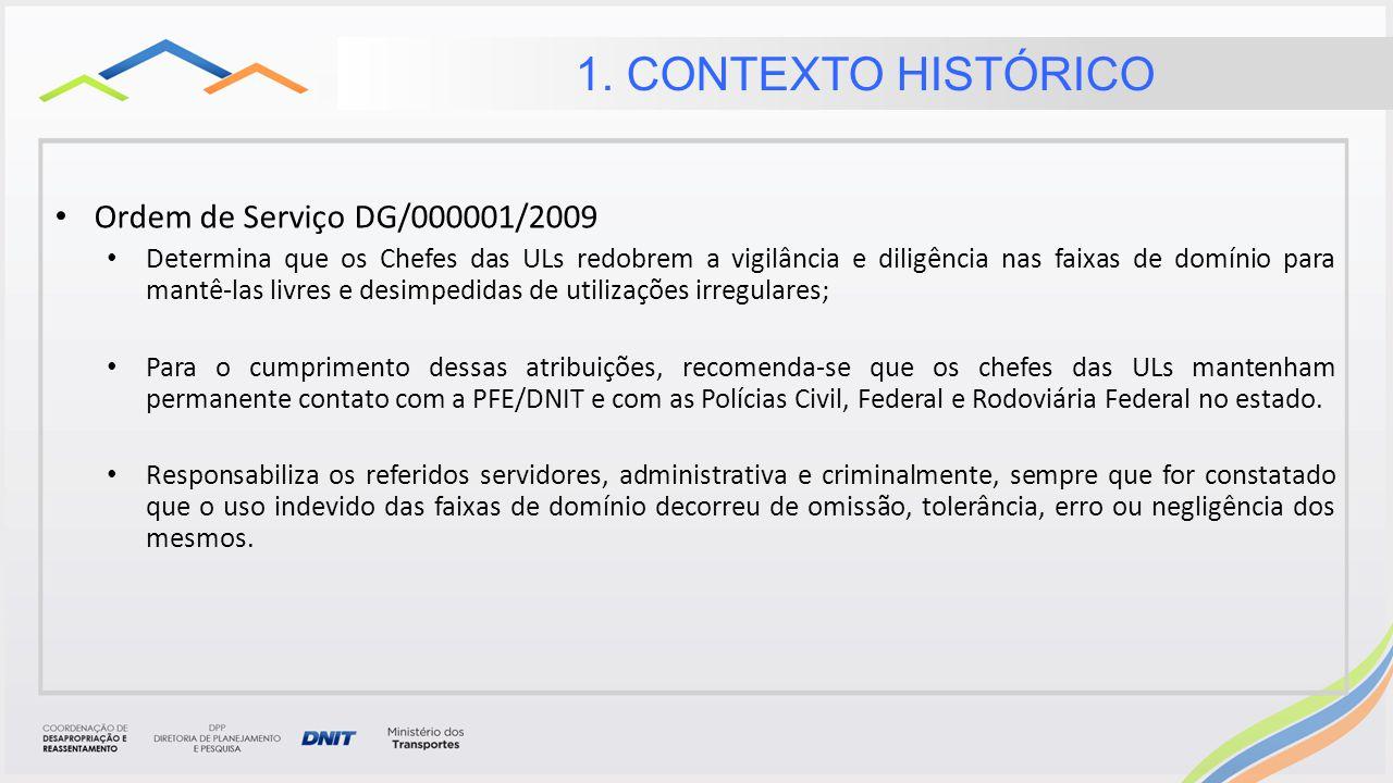 Reação dos chefes das Uls Deficiência da SR/DNIT/ES; As ULs não possuem equipamento e equipe técnica para cumprir de maneira satisfatória a OS DG/000001/2009.