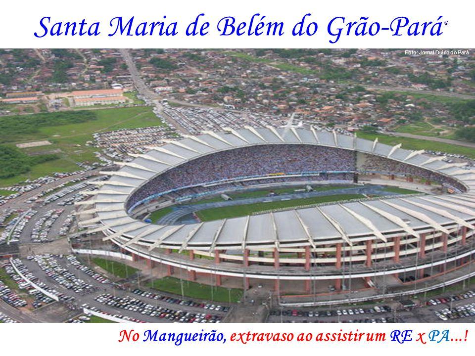 Santa Maria de Belém do Grão-Pará No Mangueirão, extravaso ao assistir um RE x PA...! Foto: Jornal Diário do Pará ©