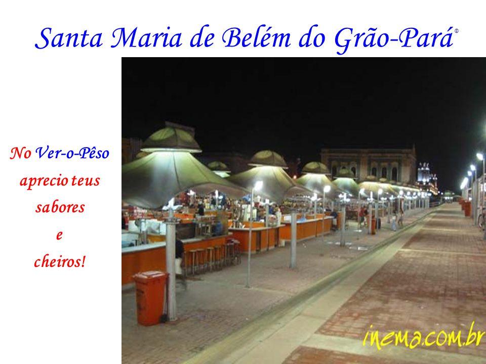 Santa Maria de Belém do Grão-Pará No Forte do Castelo vejo-te ainda no berço, no ido de 1616.
