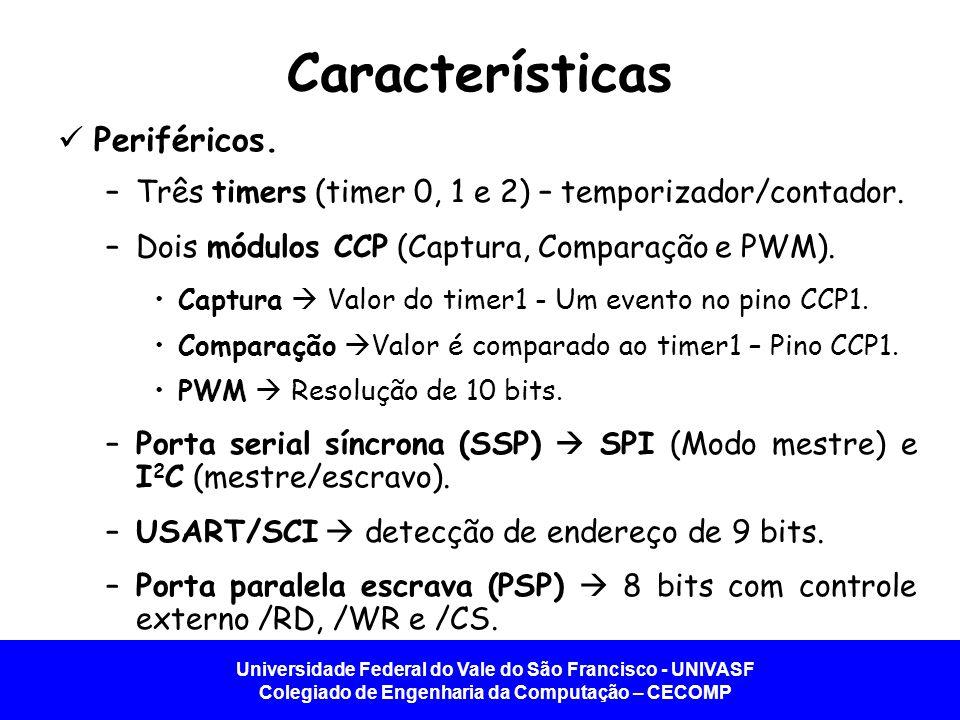 Universidade Federal do Vale do São Francisco - UNIVASF Colegiado de Engenharia da Computação – CECOMP Características Analógica.