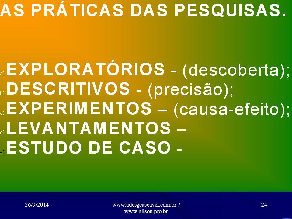 26/9/2014www.adesgcascavel.com.br / www.nilson.pro.br 23