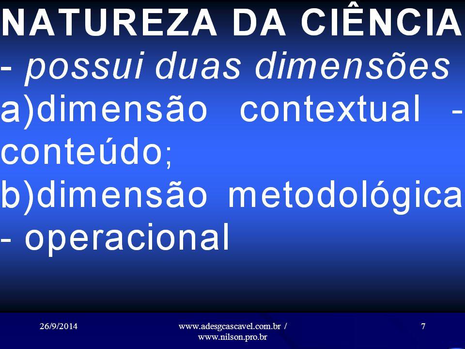 26/9/2014www.adesgcascavel.com.br / www.nilson.pro.br 6