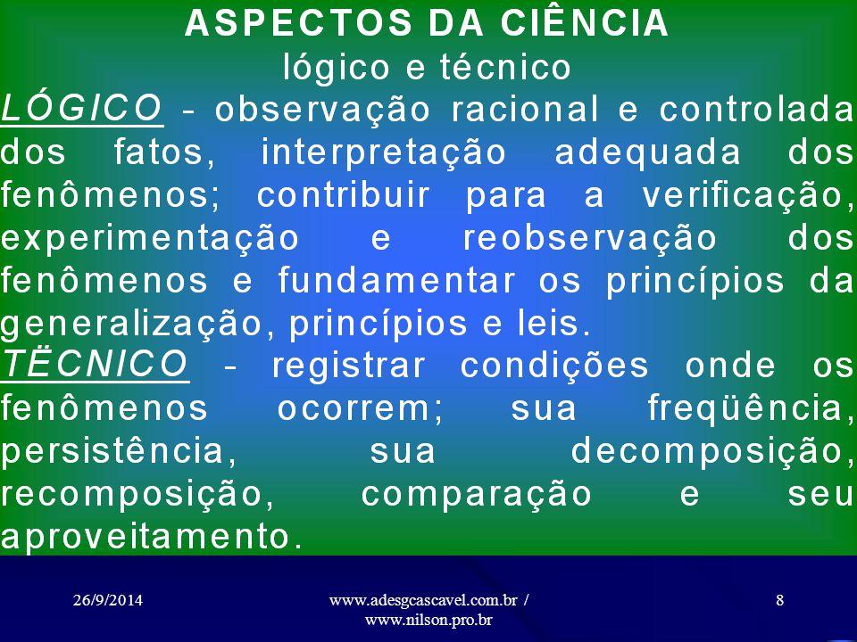 26/9/2014www.adesgcascavel.com.br / www.nilson.pro.br 18