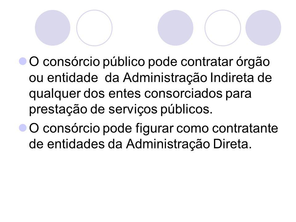 O consórcio público pode contratar órgão ou entidade da Administração Indireta de qualquer dos entes consorciados para prestação de serviços públicos.