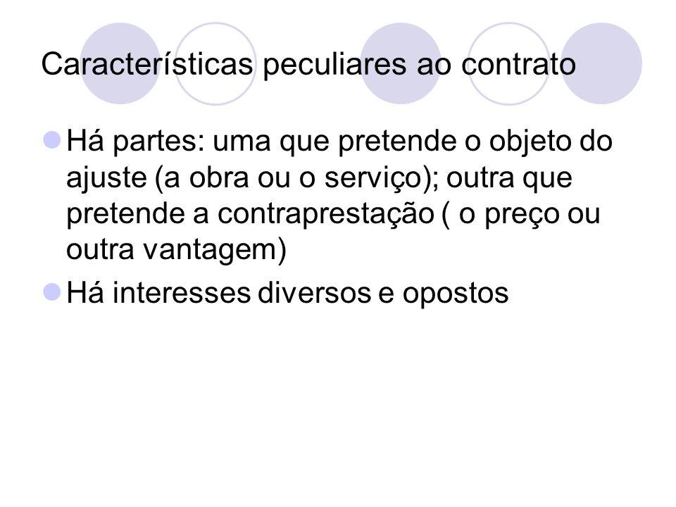Em suma: Acordos de vontade com interesses contrapostos (contrato) Acordos de vontade com interesses comuns (convênios e consórcios)