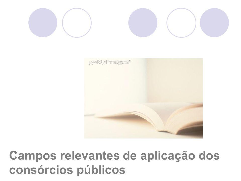 Campos relevantes de aplicação dos consórcios públicos