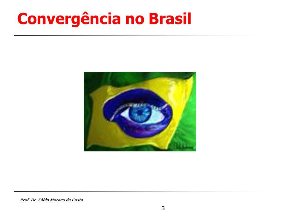 Prof. Dr. Fábio Moraes da Costa 3 Convergência no Brasil