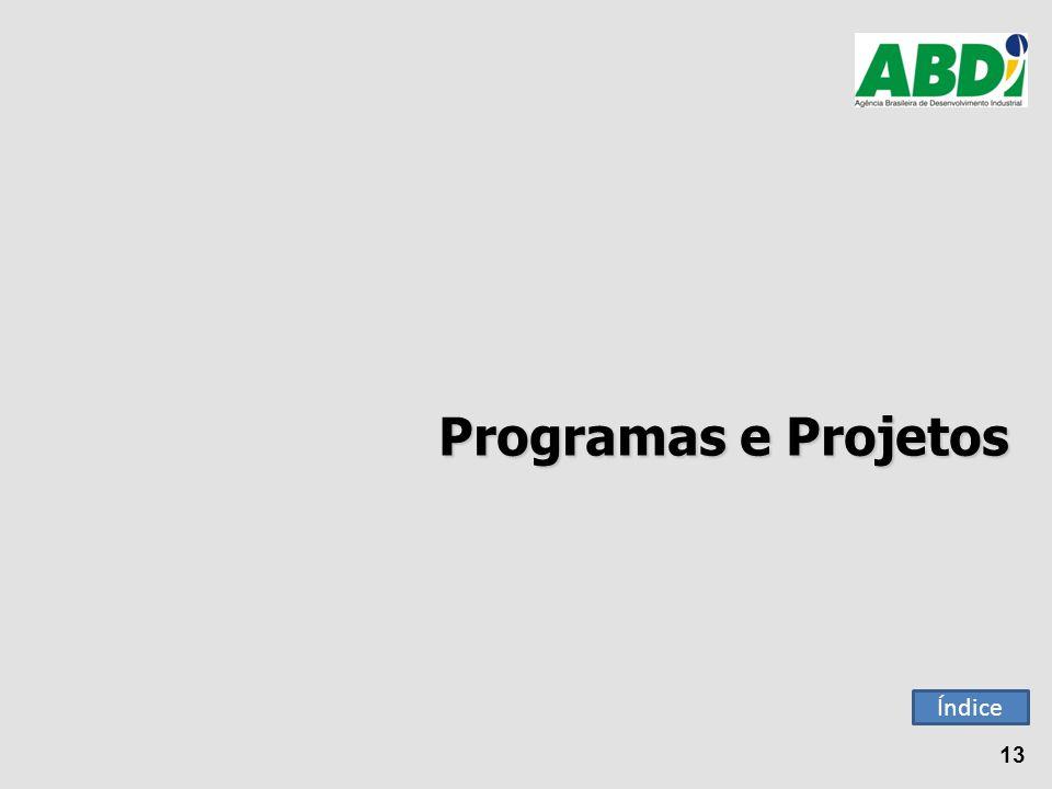 Programas e Projetos 13 Índice