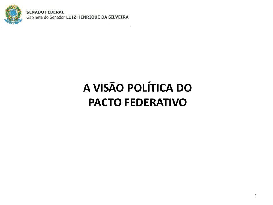 A VISÃO POLÍTICA DO PACTO FEDERATIVO 1
