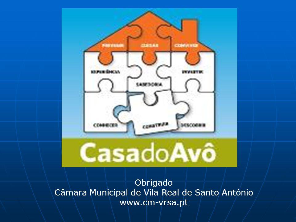 Obrigado Câmara Municipal de Vila Real de Santo António www.cm-vrsa.pt