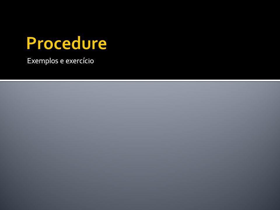 Exemplos e exercício