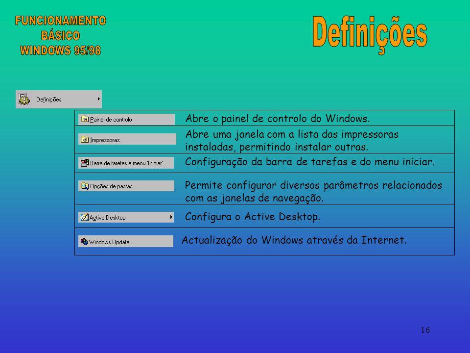 16 Abre o painel de controlo do Windows.