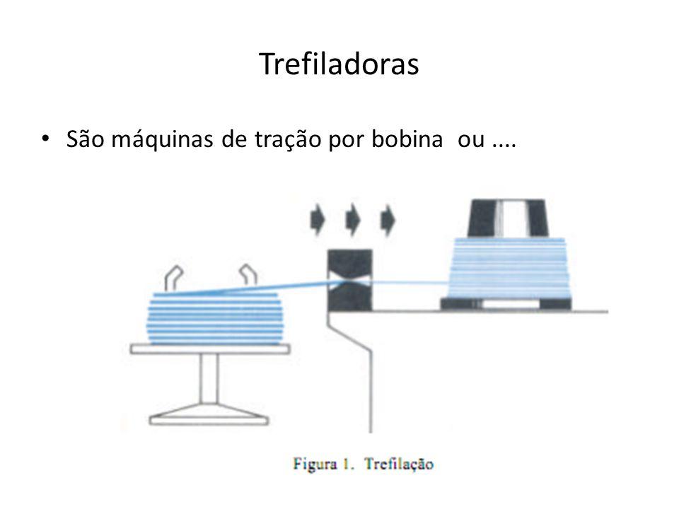Trefiladoras São máquinas de tração por bobina ou....
