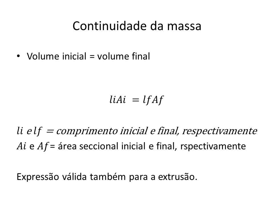 Continuidade da massa