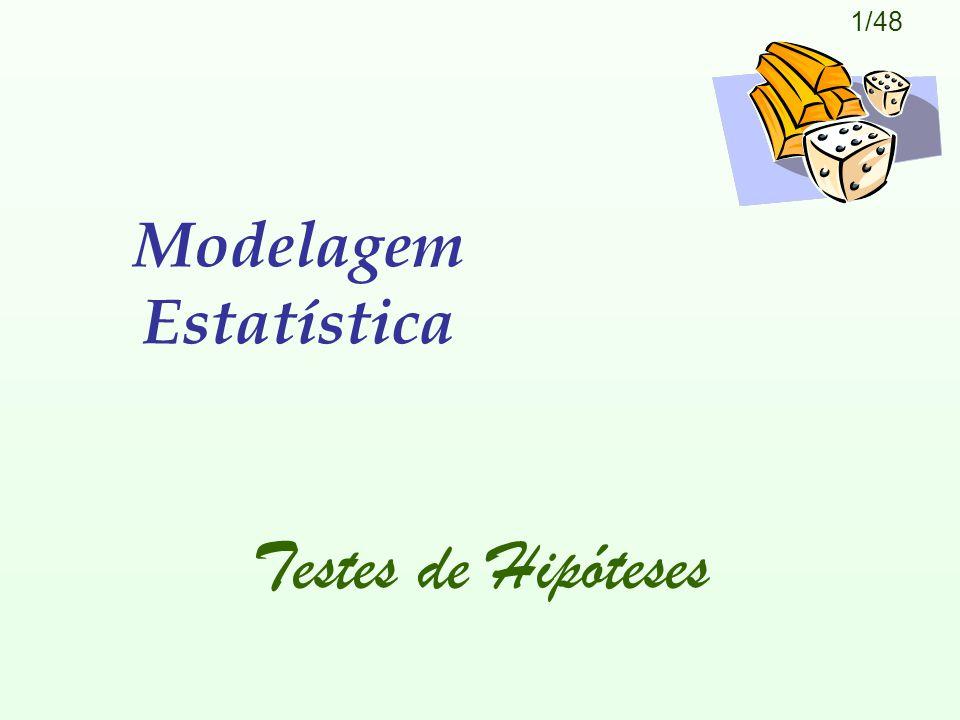 1/48 Modelagem Estatística Testes de Hipóteses