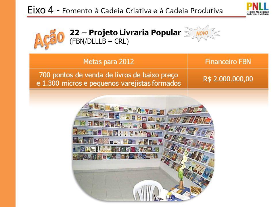 Eixo 4 - Fomento à Cadeia Criativa e à Cadeia Produtiva 22 – Projeto Livraria Popular (FBN/DLLLB – CRL)
